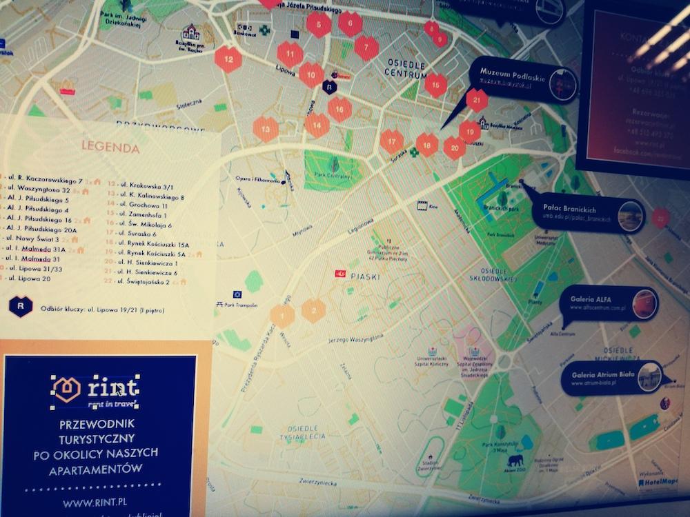 Apartamenty Rint w Białymstoku z naszymi mapami