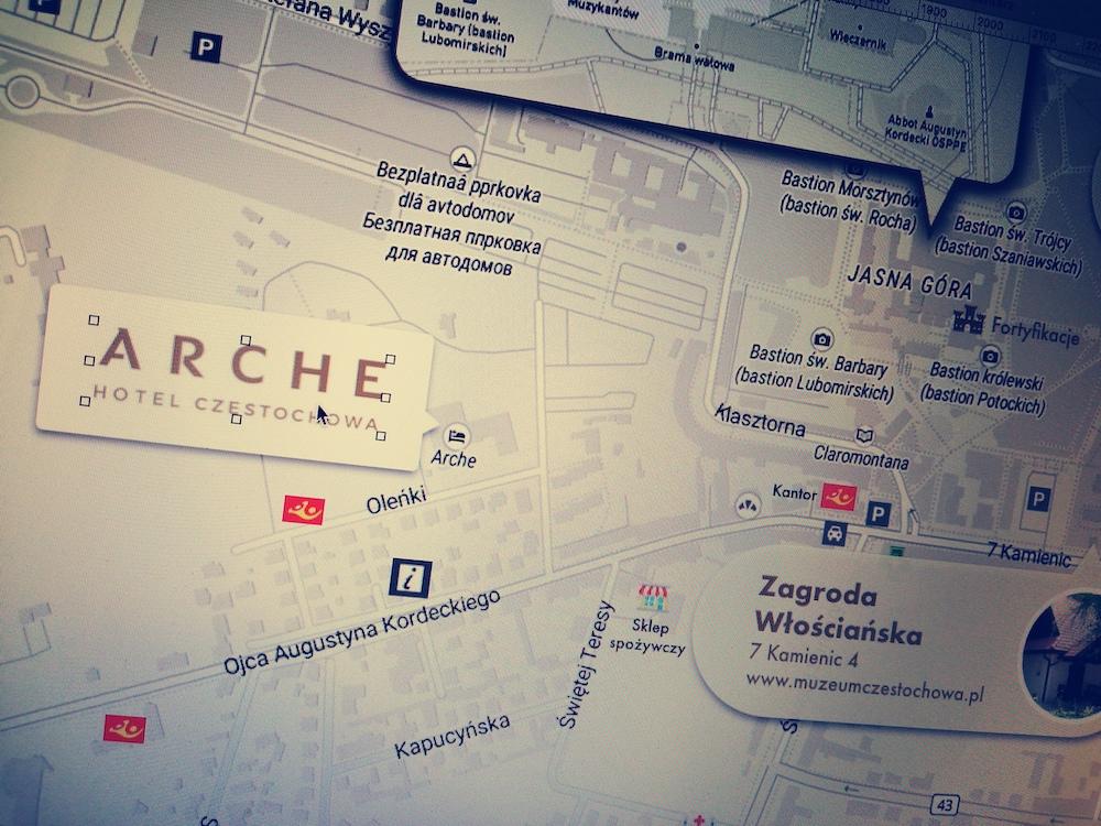 Realizacja mapy turystycznej dla hotelu z Grupy Arche w Częstochowie