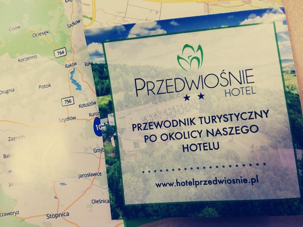 Mapy turystyczne dla Hotelu Przedwiośnie w Masłowie