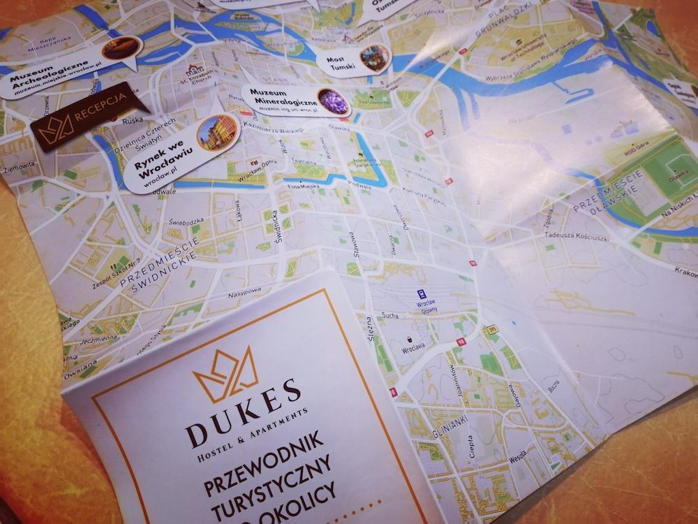 Mapy Wrocławia dla DUKES Hostels
