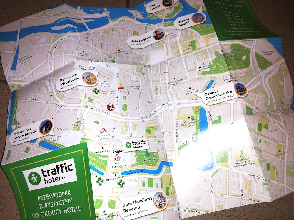 Nowe mapy dla Hotelu Traffic z Wrocławia