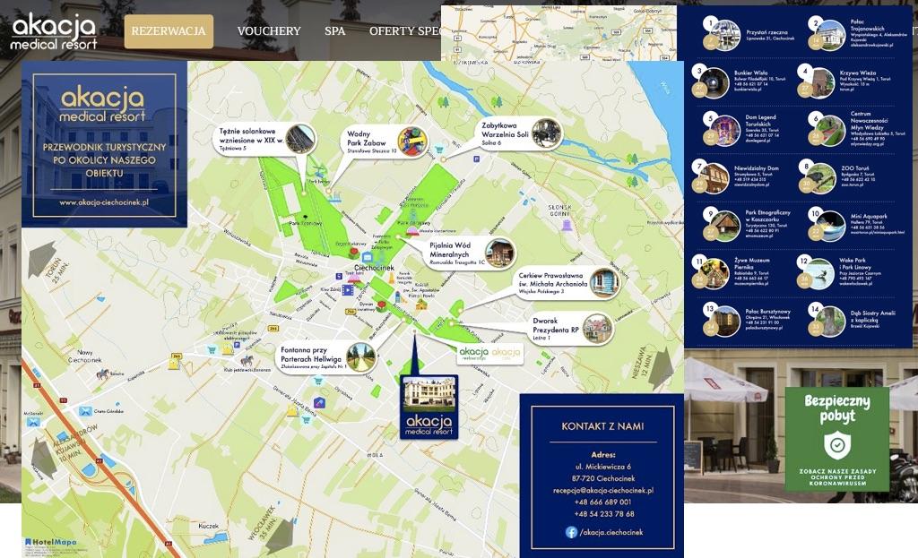 Mapy dla Akacja Medical w Ciechocinku
