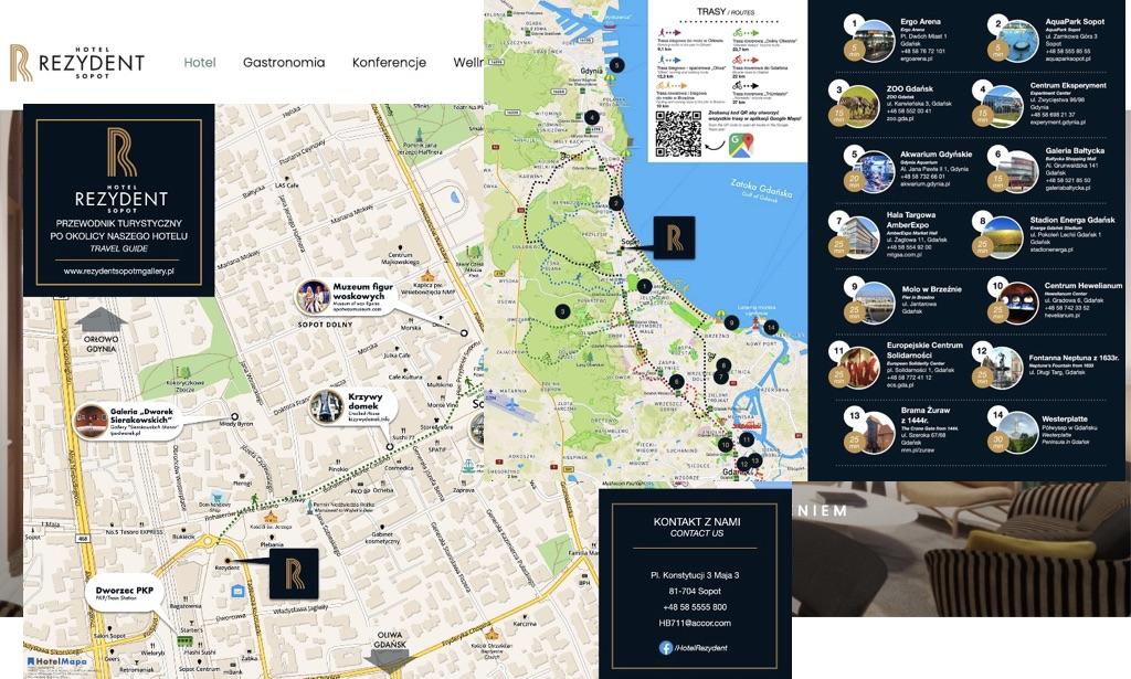 Hotel Rezydent w Sopocie z nowymi mapami