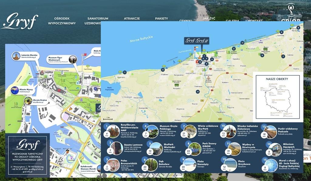 Mapy dla obiektów Gryf I i Gry II w Kołobrzegu