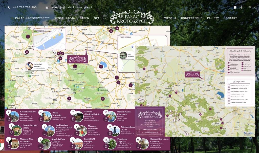 Pałac Krotoszyce z mapami od HotelMapa!